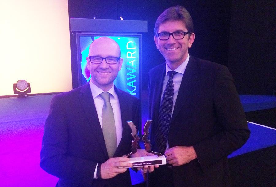 Gemeinsam mit Wolfram Weimer bei der Verleihung des Politikawards (Foto: Junghanns)