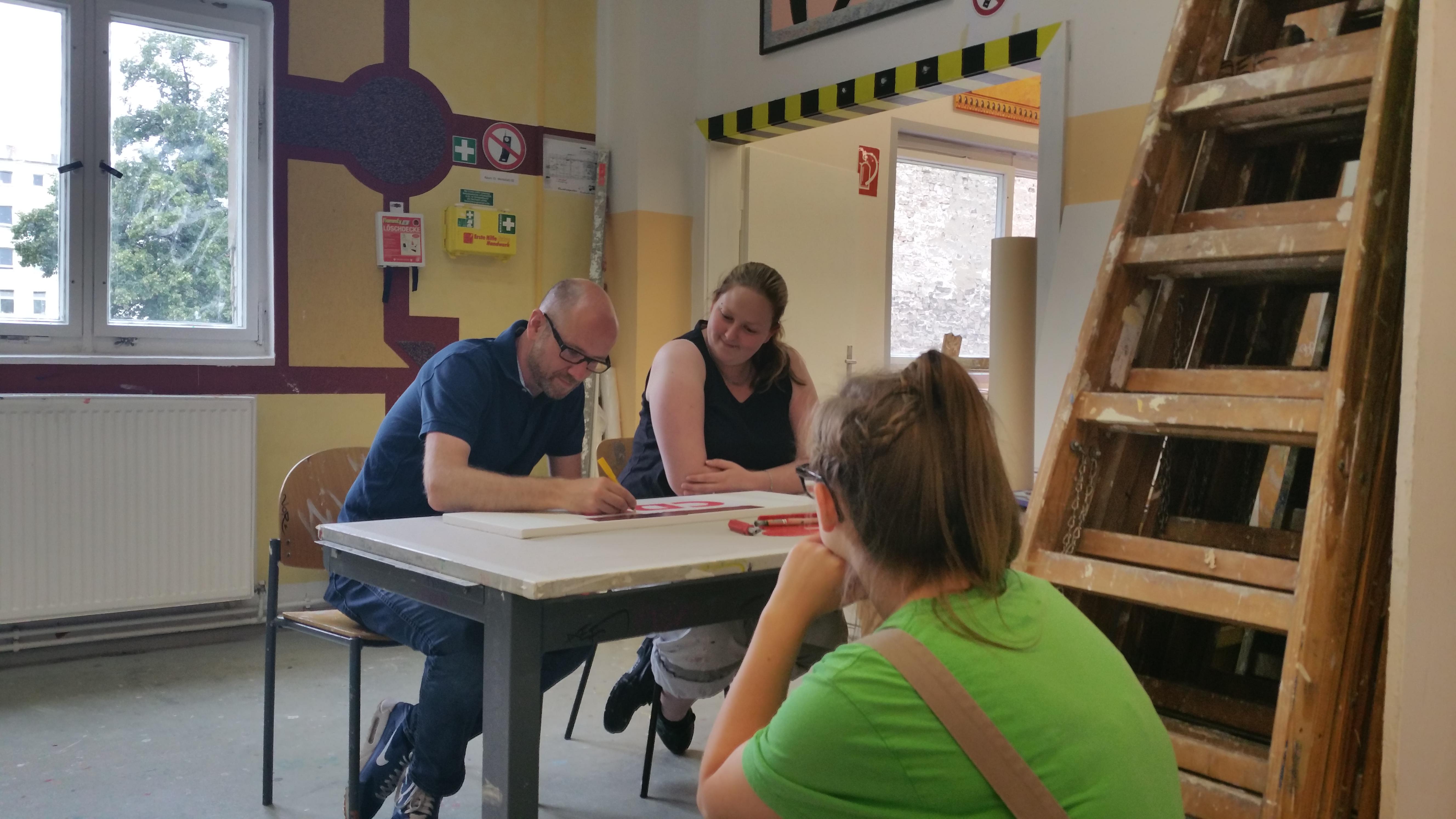 Zwischenstopp in Berlin an meinem dritten Praktikumstag bei der Jugendberufshilfe und der Volkshochschule (Foto: Blind)