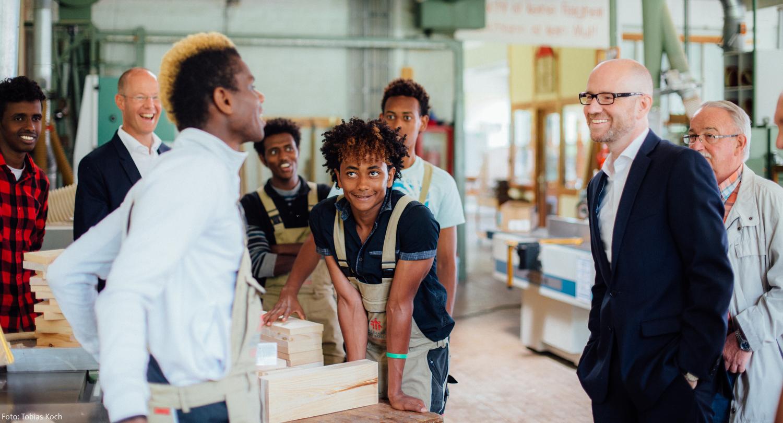 Besuch des Jugendhilfezentrums Don Bosco während der Sommertour 2016 in Schlüchtern.  (Foto: Tobias Koch)